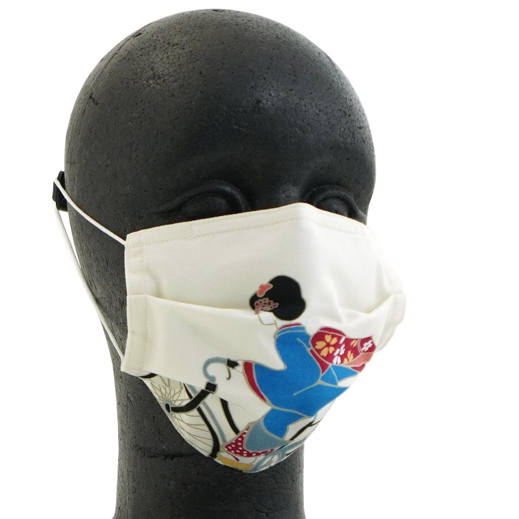 手ぬぐいマスク(三層) 「よーこがはりますなぁ」(左)
