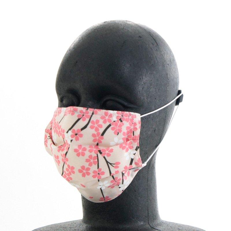 手ぬぐいマスク(三層) 「桜通り(うえ)」