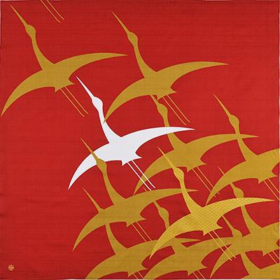 大風呂敷 「祝い鶴」