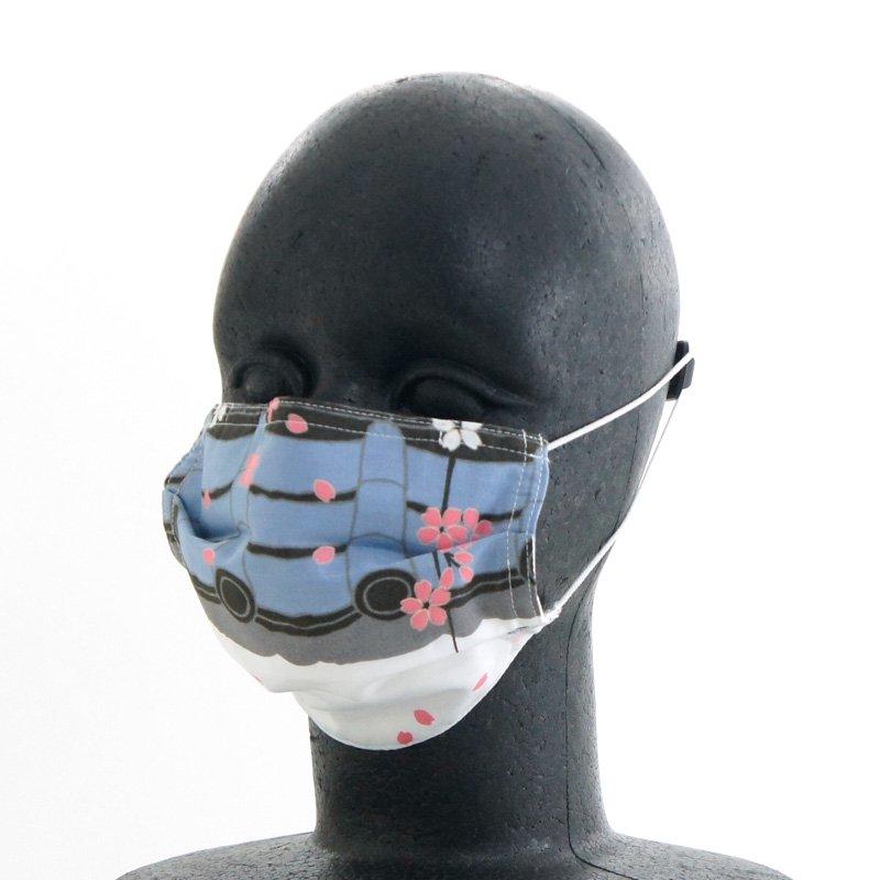 手ぬぐいマスク(三層) 「桜通り(した)」