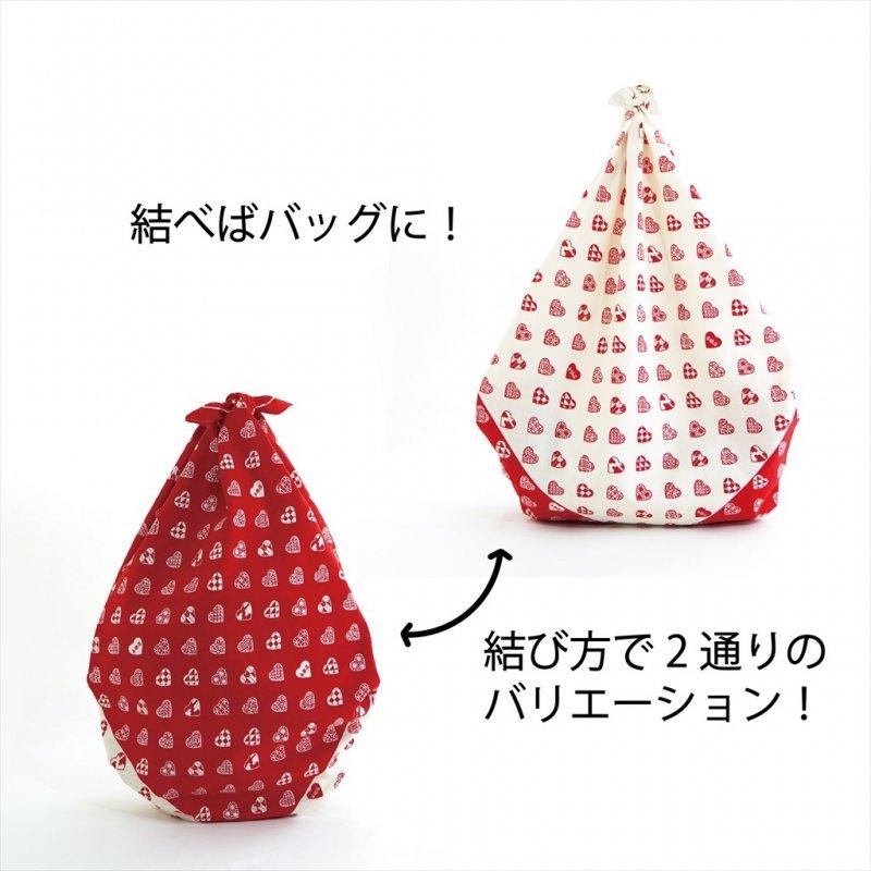 大風呂敷 「ラブリ紋市松」(レッド)
