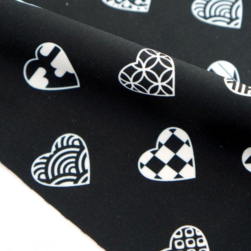 クリーニングクロス(大)「ラブリ紋」(ブラック/ホワイト)