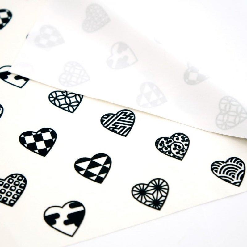 クリーニングクロス(大)「ラブリ紋」(ホワイト/ブラック)
