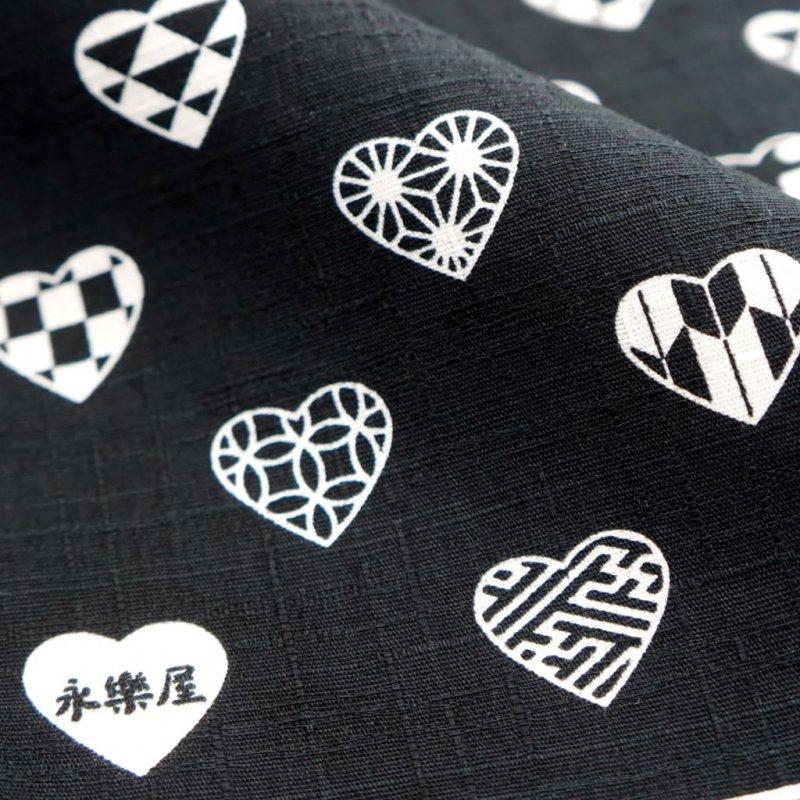 大風呂敷 「ラブリ紋」(ブラック/ホワイト)