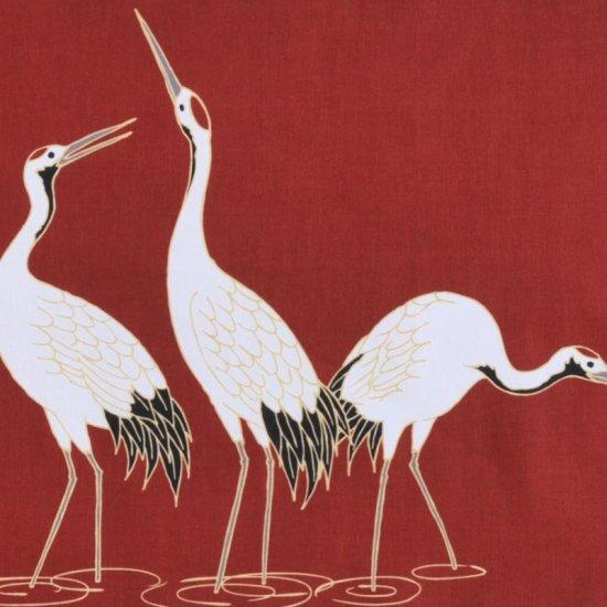 町家手拭 「並び鶴」