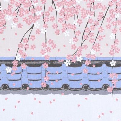 手拭総柄90㎝ 「桜通り」