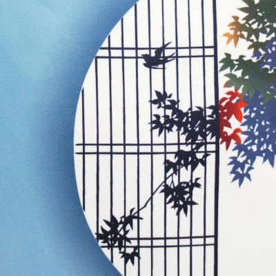 クリーニングクロス(大)「円窓の紅葉」