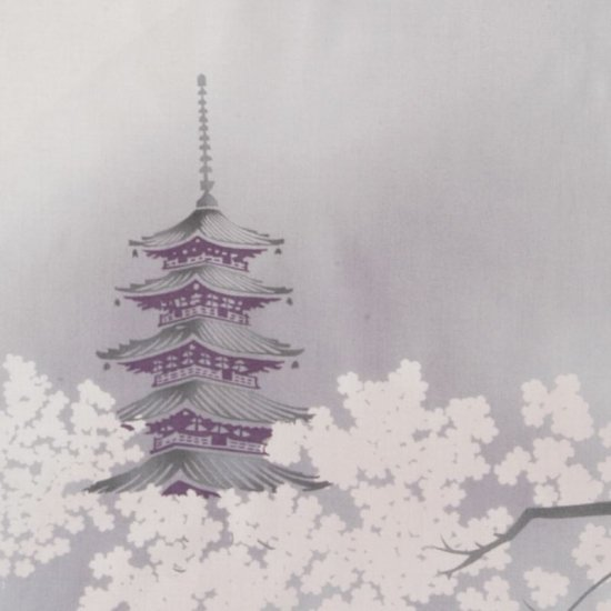 町家手拭 「古都の桜」