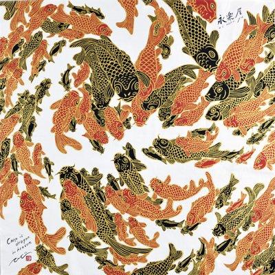 大風呂敷 「鯉 Carp is dragon in heaven」/木村英輝