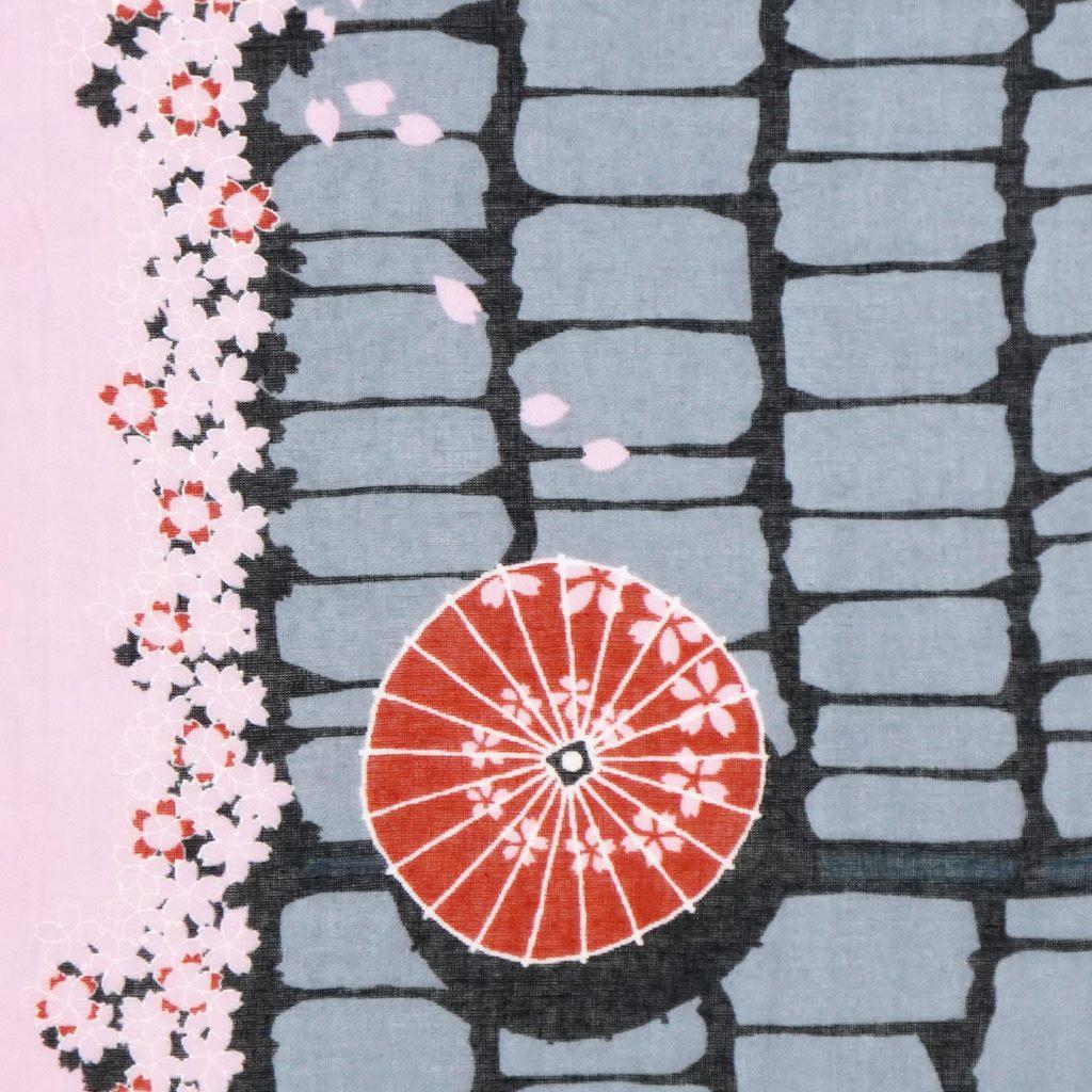 ガーゼ90㎝ 「桜石畳」