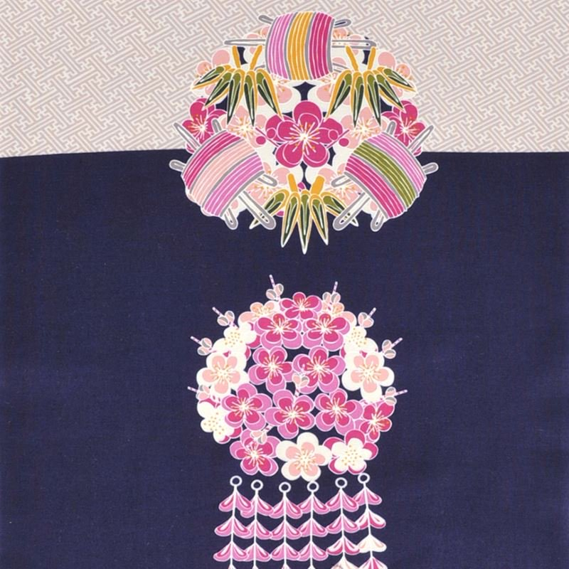 町家手拭 「舞妓さんの花かんざし・冬」