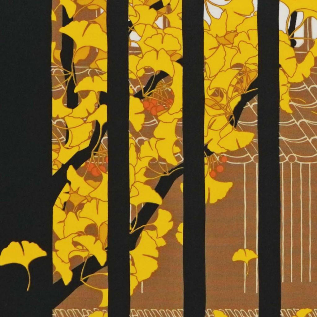 町家手拭 「晩秋の町家」