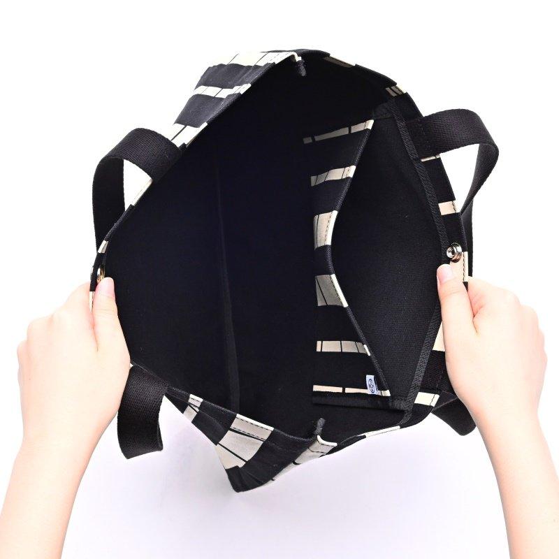 帆布カバン 「フラットトート」(横型)