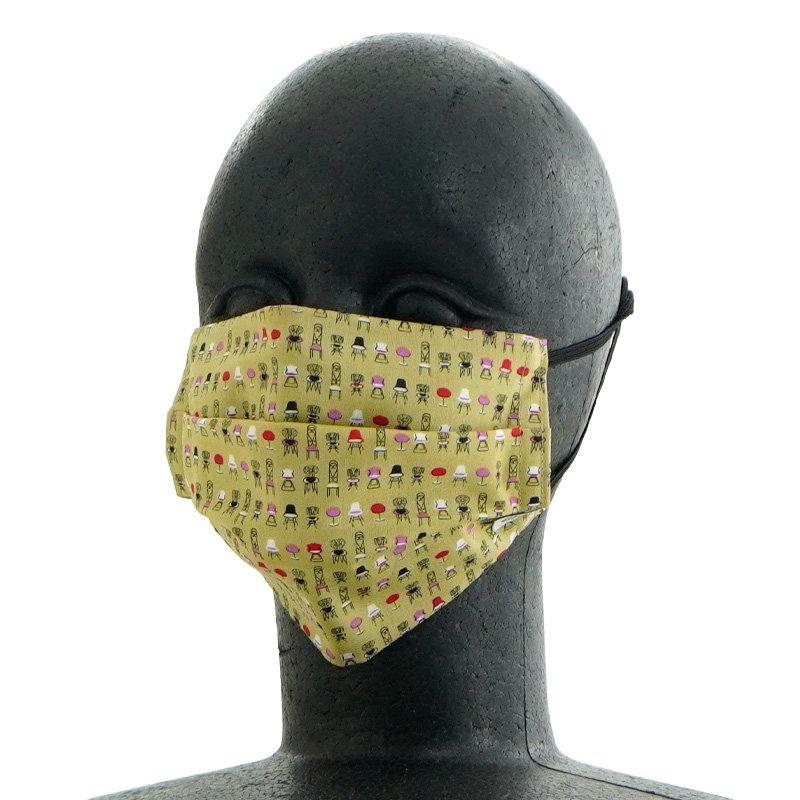 手ぬぐいマスク(二層) 「チェアー」