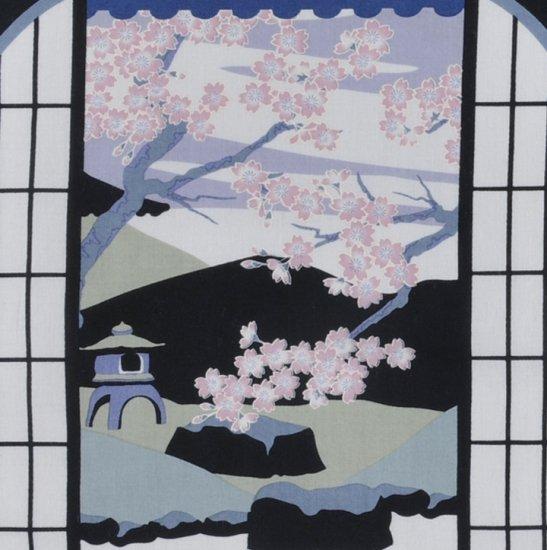 町家手拭 「春の釣鐘窓」