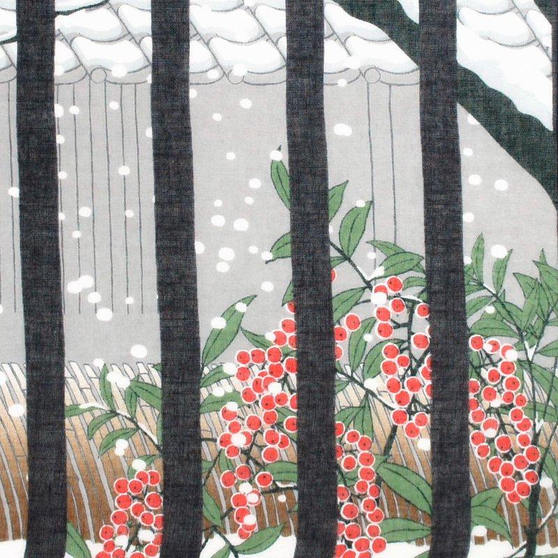 ガーゼ180㎝ 「冬の町家」