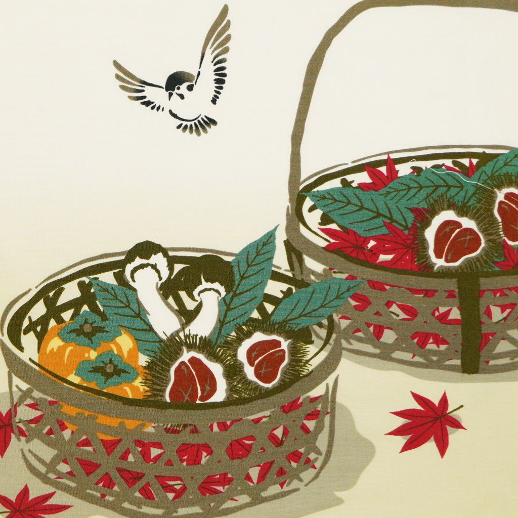 町家手拭 「秋の味覚」