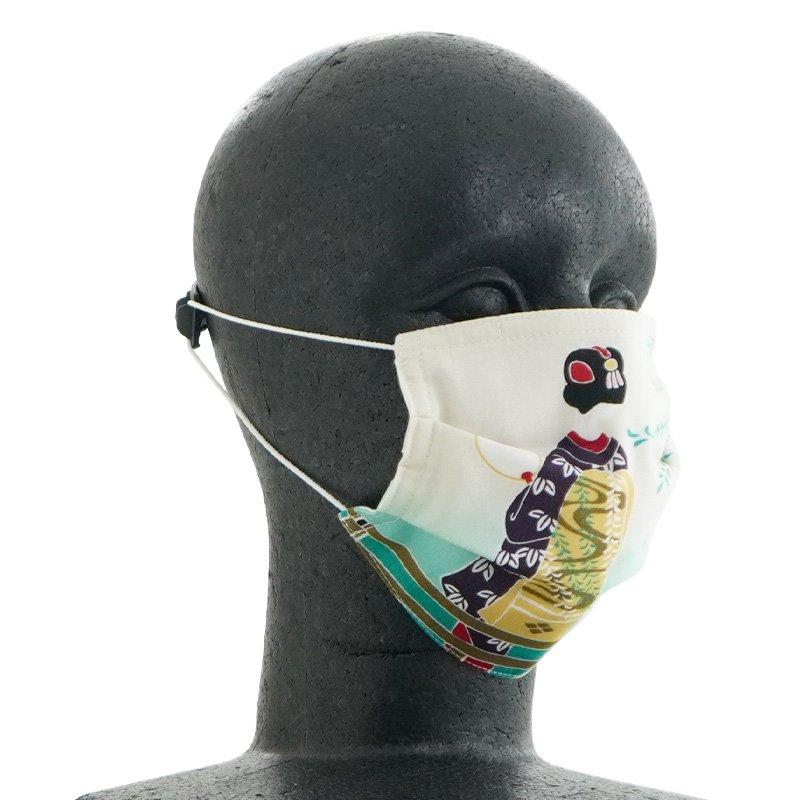 手ぬぐいマスク(三層) 「舞妓さんの四季」(夏)