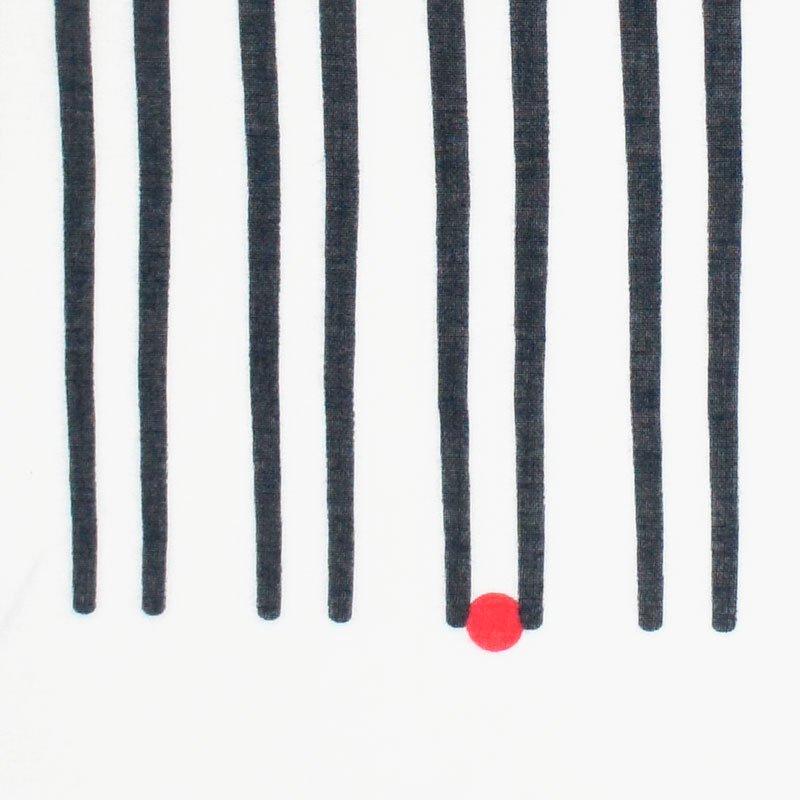 ガーゼ180㎝ 「箸ならべ」(ブラック)