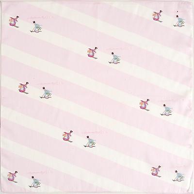 ハンカチ 「MAIKO SKI」(ピンク)