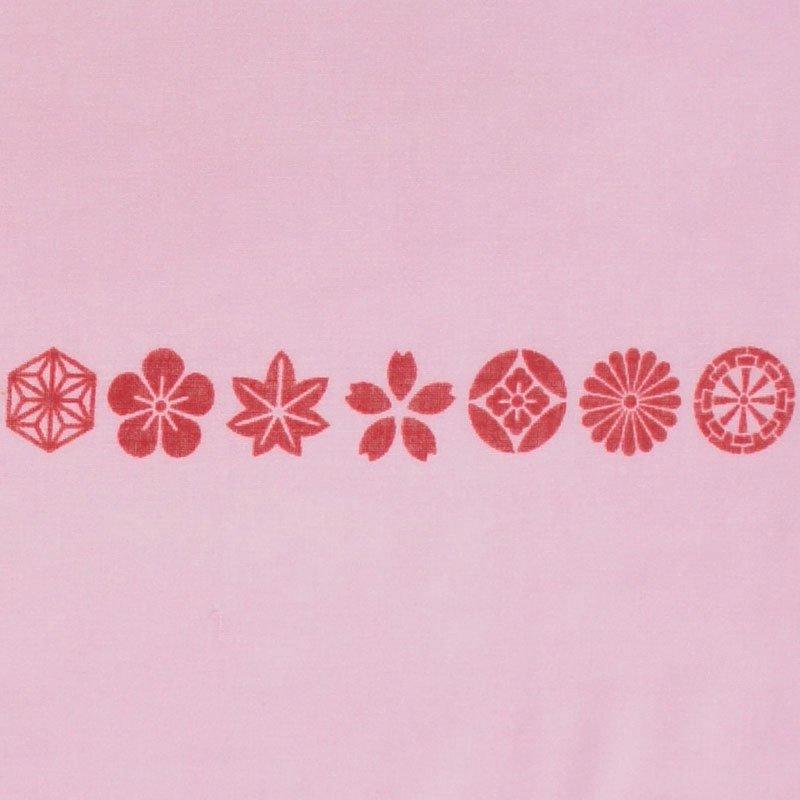 ガーゼ180㎝ 「小紋並び」(ピンク)