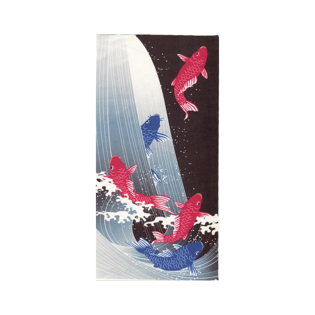クリーニングクロス(小)「五鯉躍」(ごりやく)
