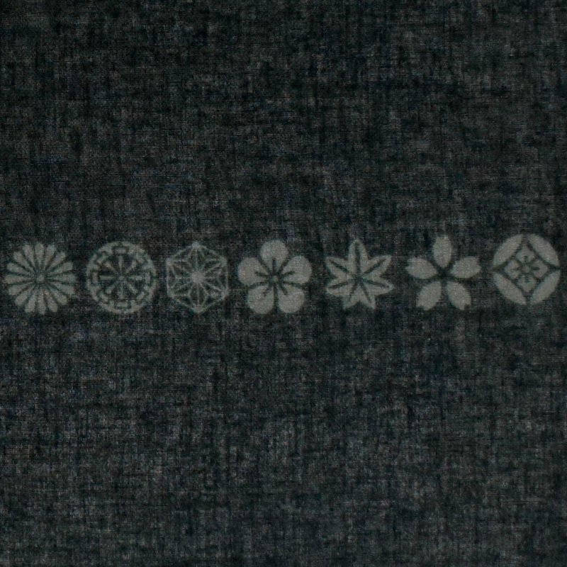 ガーゼ180㎝ 「小紋並び」(モノトーン)