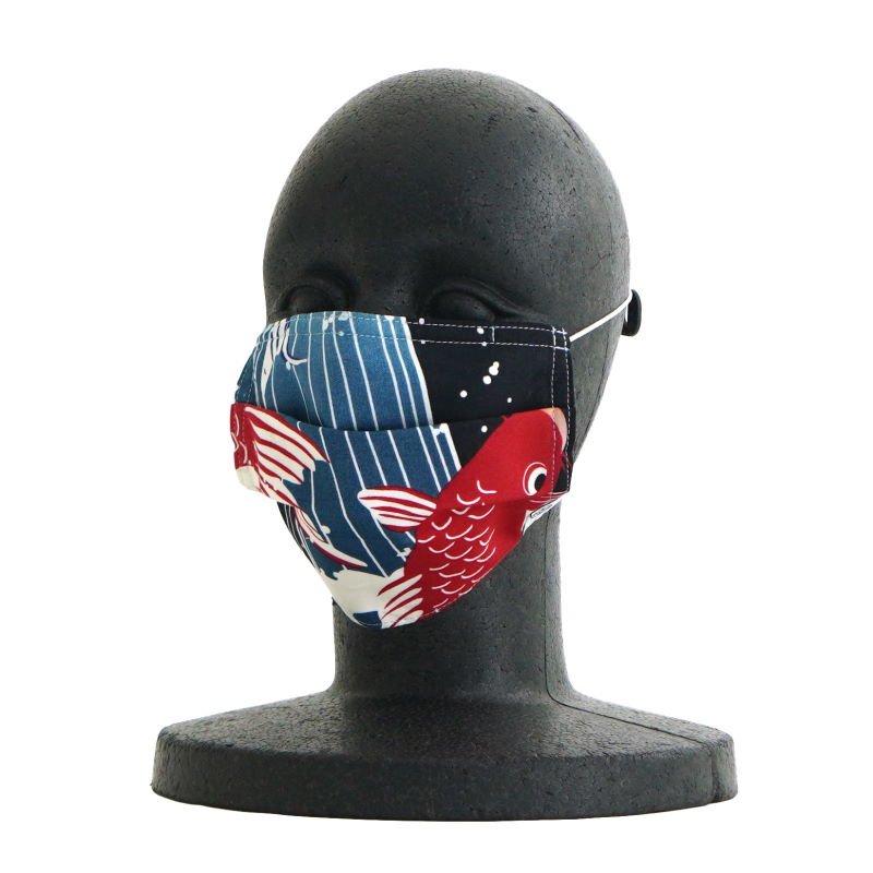 手ぬぐいマスク(三層) 「五鯉躍(ごりやく)」