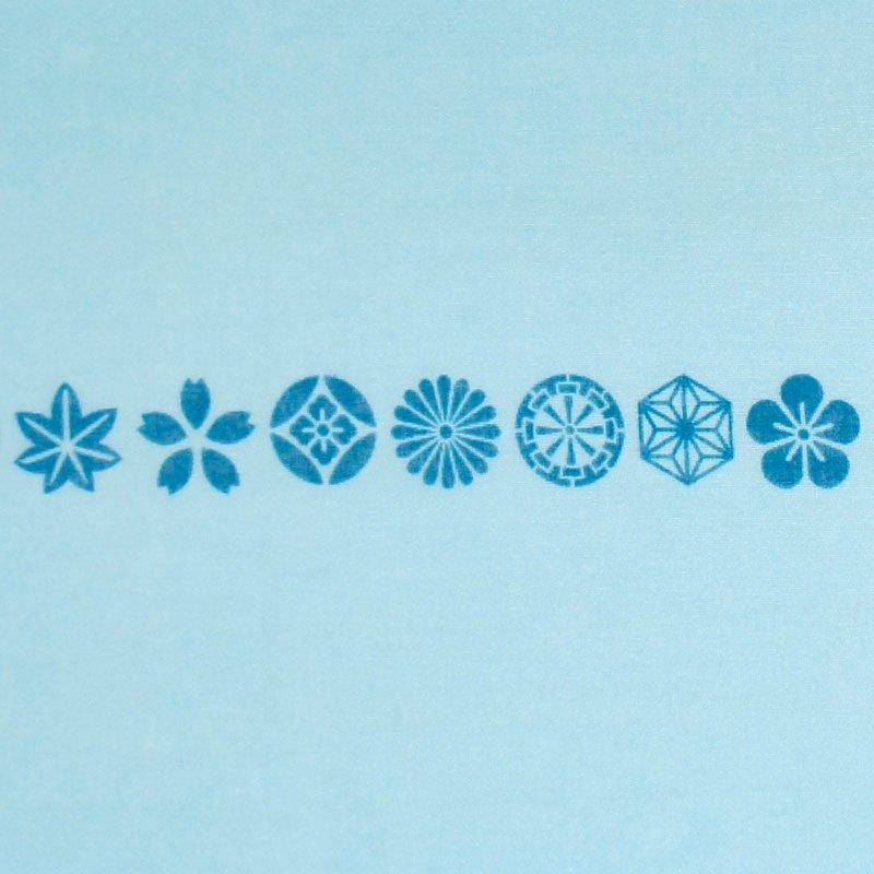 ガーゼ180㎝ 「小紋並び」(ライトブルー/ブルー)