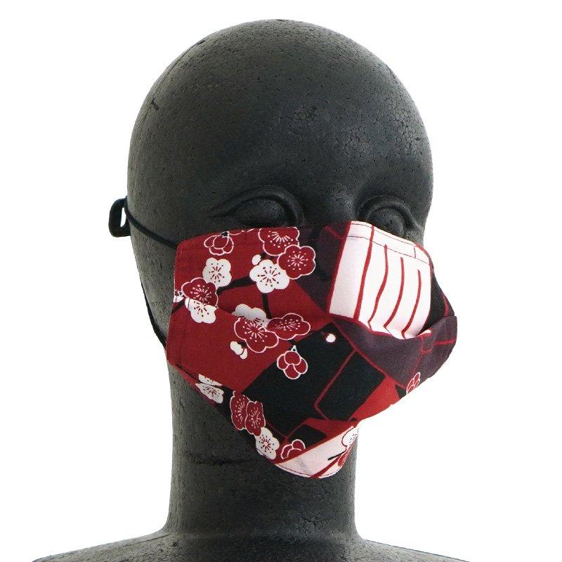 手ぬぐいマスク(三層) 「源氏香」