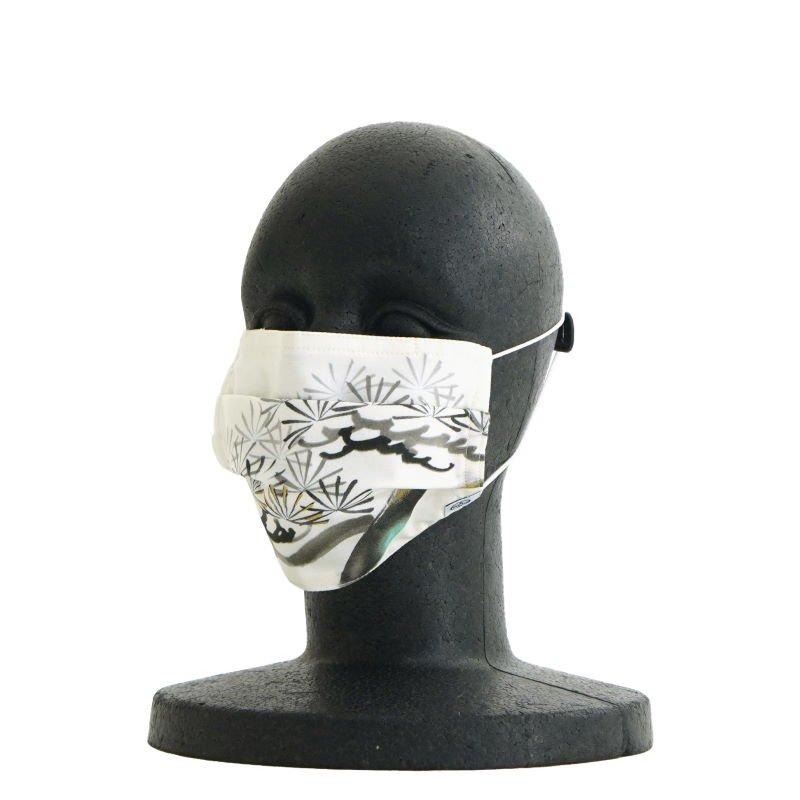 手ぬぐいマスク(三層) 「墨絵 松」