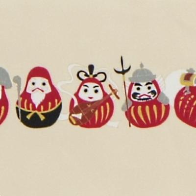 クリーニングクロス(小)「だるま七福神」