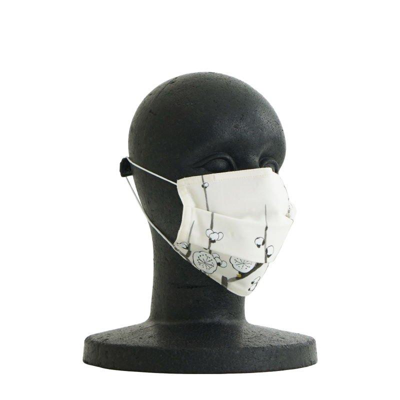 手ぬぐいマスク(三層) 「墨絵 梅」