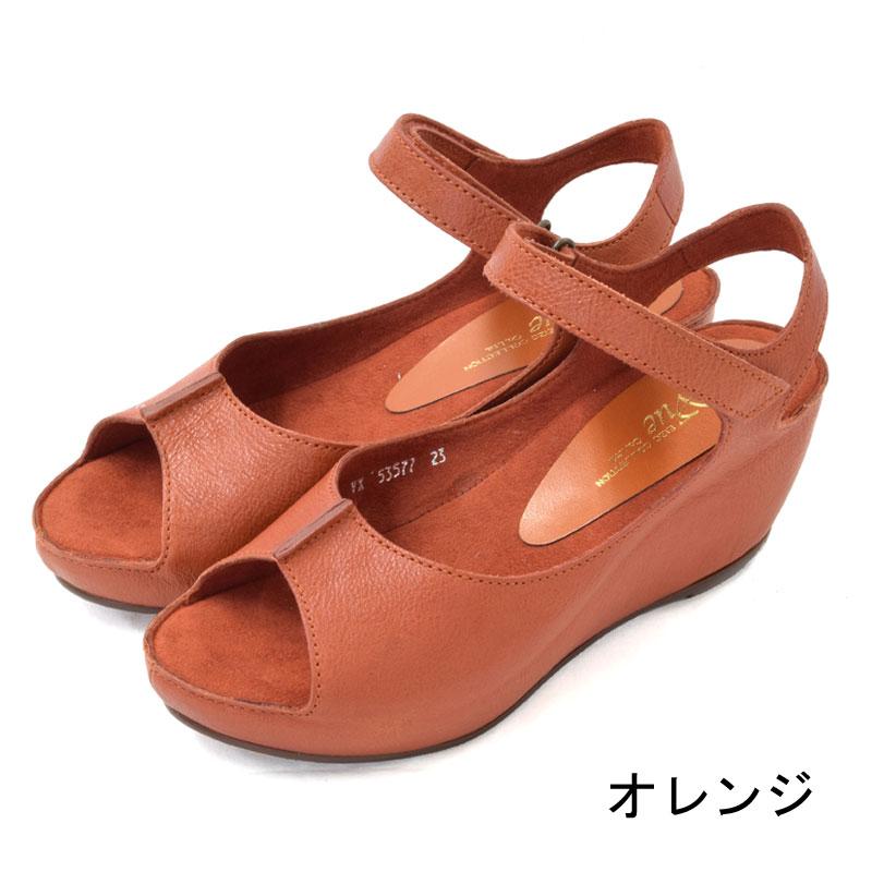 Vue ストラップ付きプラットフォームサンダル 【VE53577】
