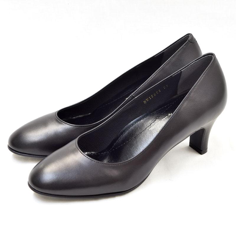 EIZO black ブラックパンプス/ラウンド6cm 【N1600】
