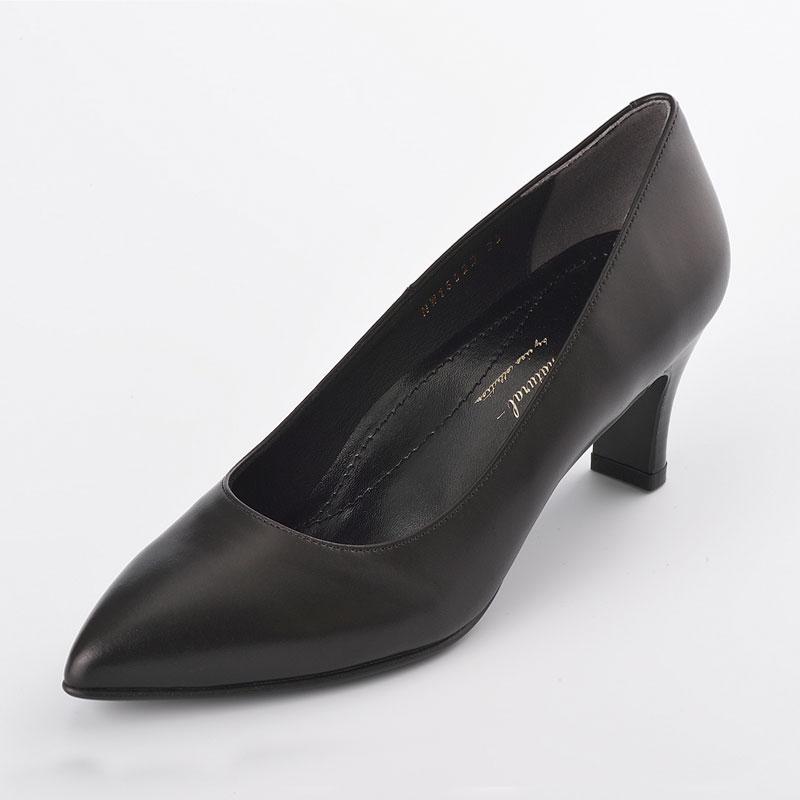 EIZO black ブラックパンプス/ポインテッド6cm 【N1602】