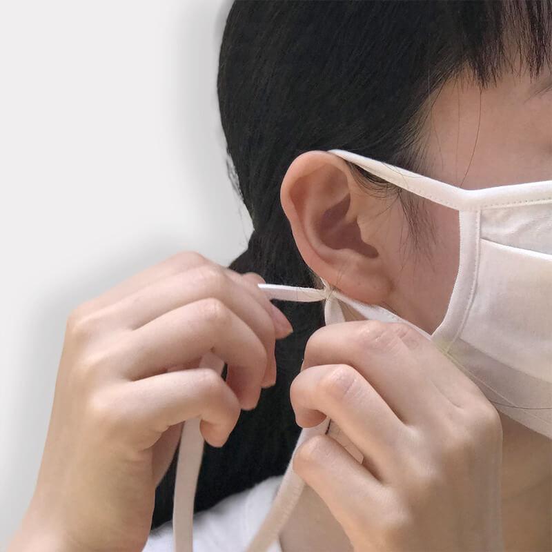 竹の布マスク(小さめサイズ)   竹布(たけふ)   ナファ生活研究所    メール便のみ