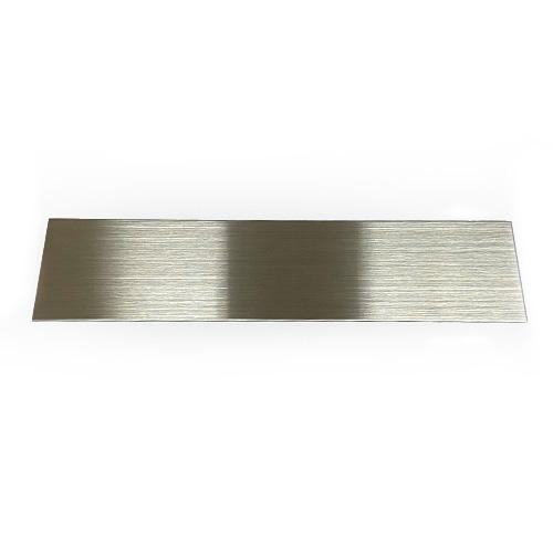 ステンレス製板(SUS304)片面研磨品(ヘアーライン仕上げ) サイズ:550�x150� 厚み0.5mm