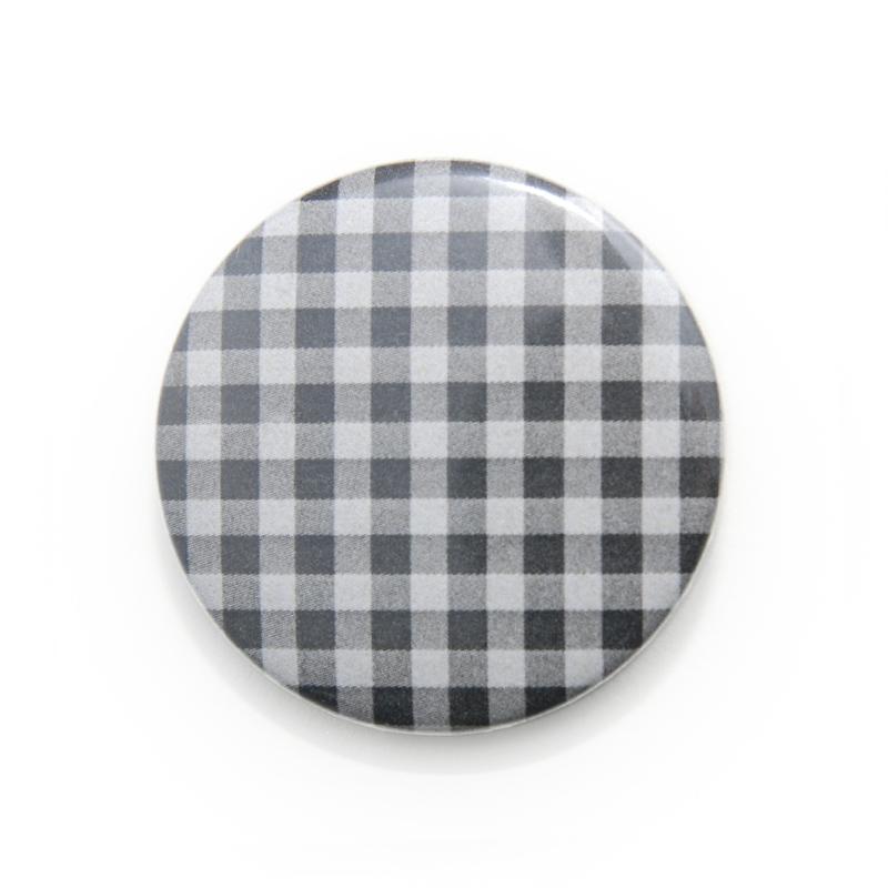 缶バッジ 柄・模様シリーズ 006 ギンガムチェック (pattern series)