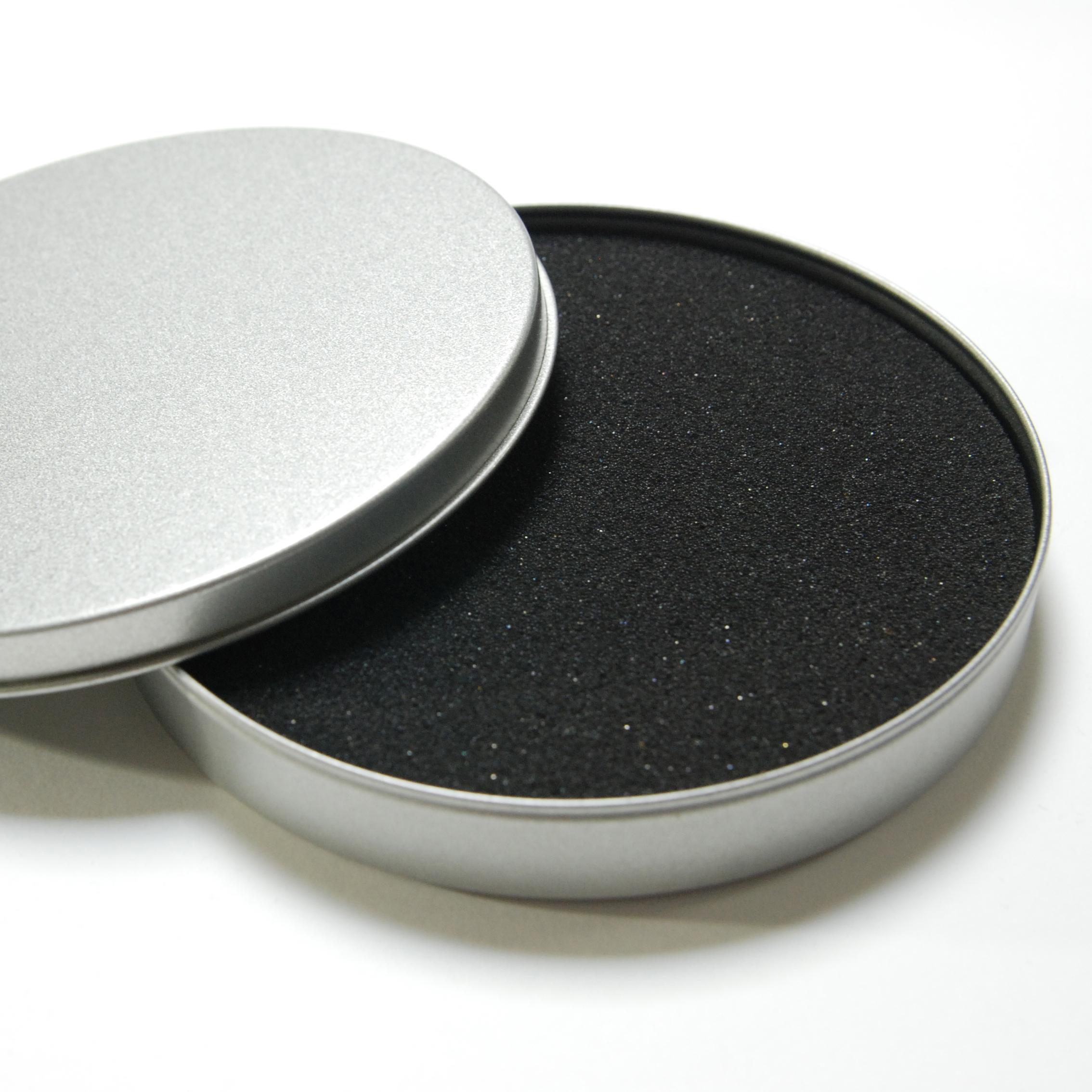 無地 CD・DVDラウンドケース 1個 【素材】ブリキ 【サイズ】直径123x高さ17mm ウレタン入り