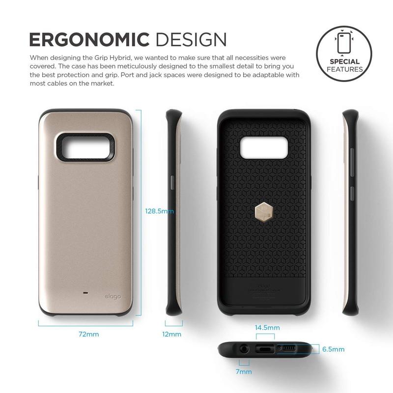 elago GA8 GRIP HYBRID for Galaxy S8