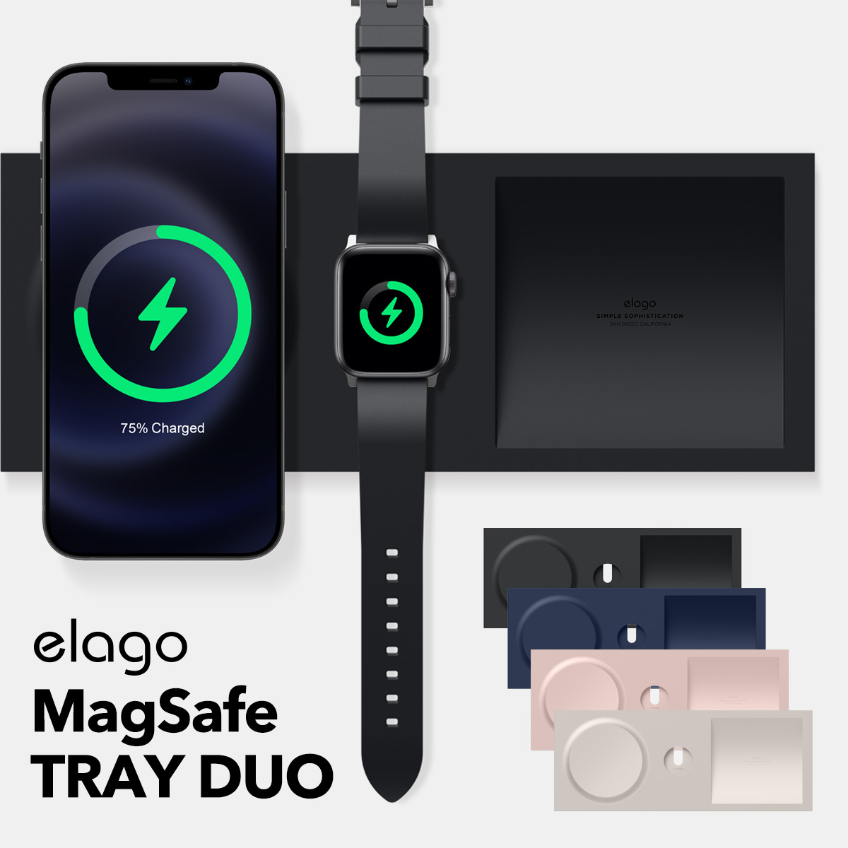 elago MagSafe TRAY DUO for iPhone / Apple Watch