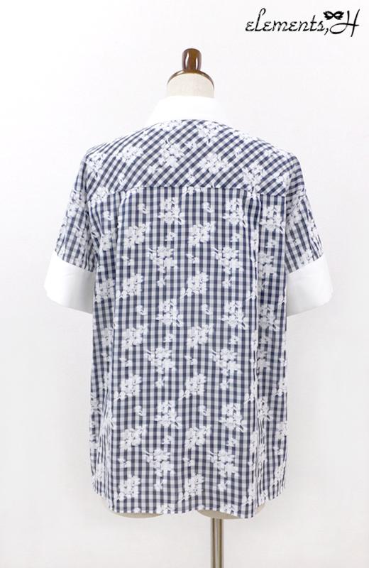 フラワーチェックシャツ 062405P