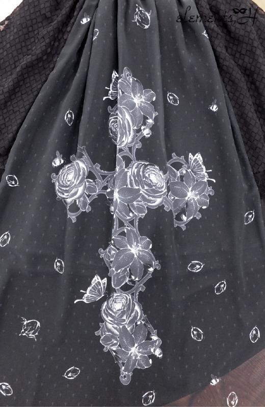 フラワークロスプリントスカート 091503P