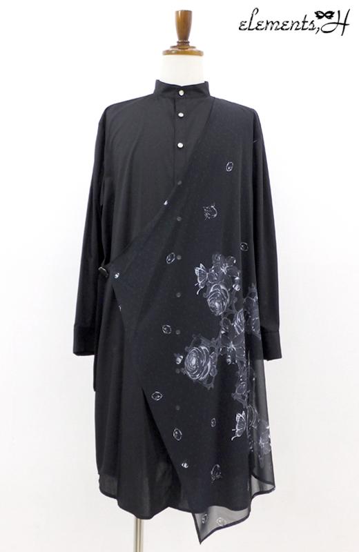 MENSフラワークロスプリントシャツ 591402P