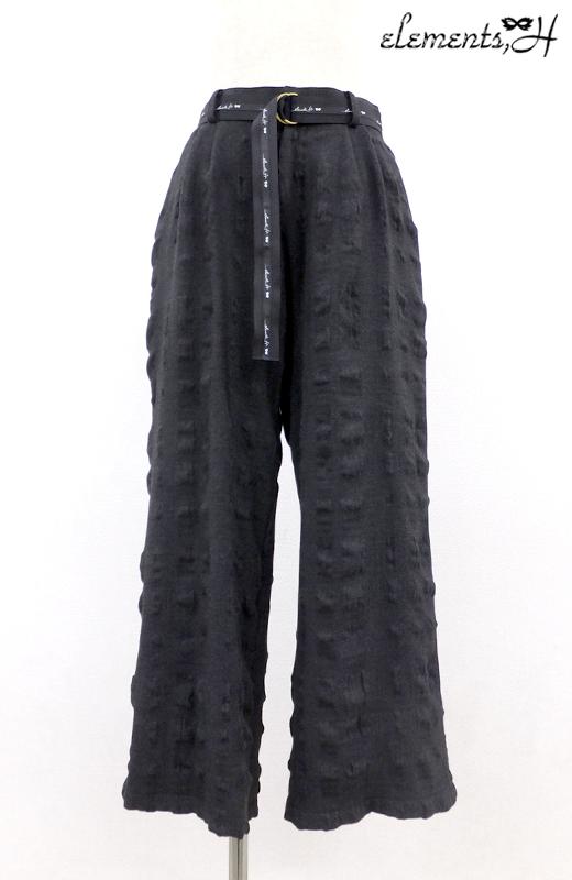 ロゴベルト付きタックパンツ 092601P