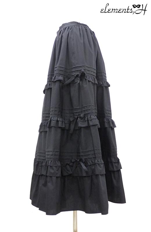 ティアードフリルロングスカート 062507G