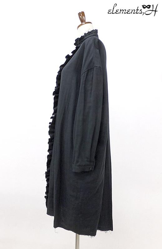 ガーゼフリルロングブラウス 081401P