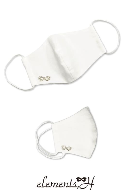 立体ガーゼマスク(刺繍デザイン/ホワイト)