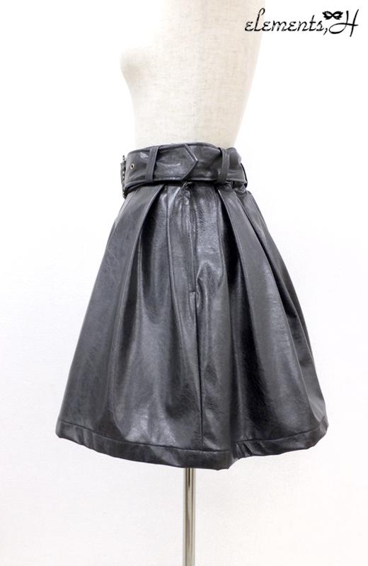 レザーミニスカート 082502P